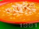 Рецепта Боб супа / чорба по тексаски с пушени свински гърди, чушки и лют пипер